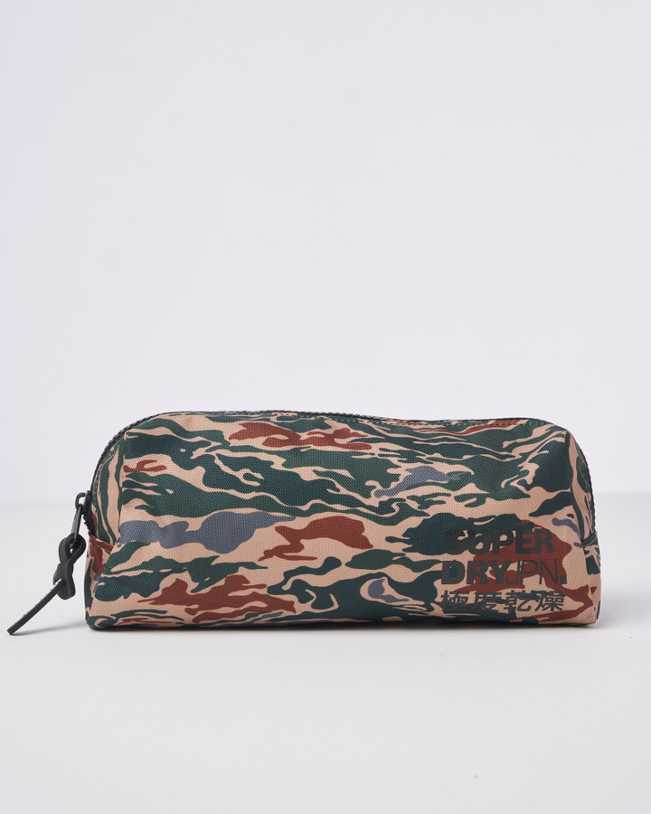 Superdry Classic Pencil Case Green Camo