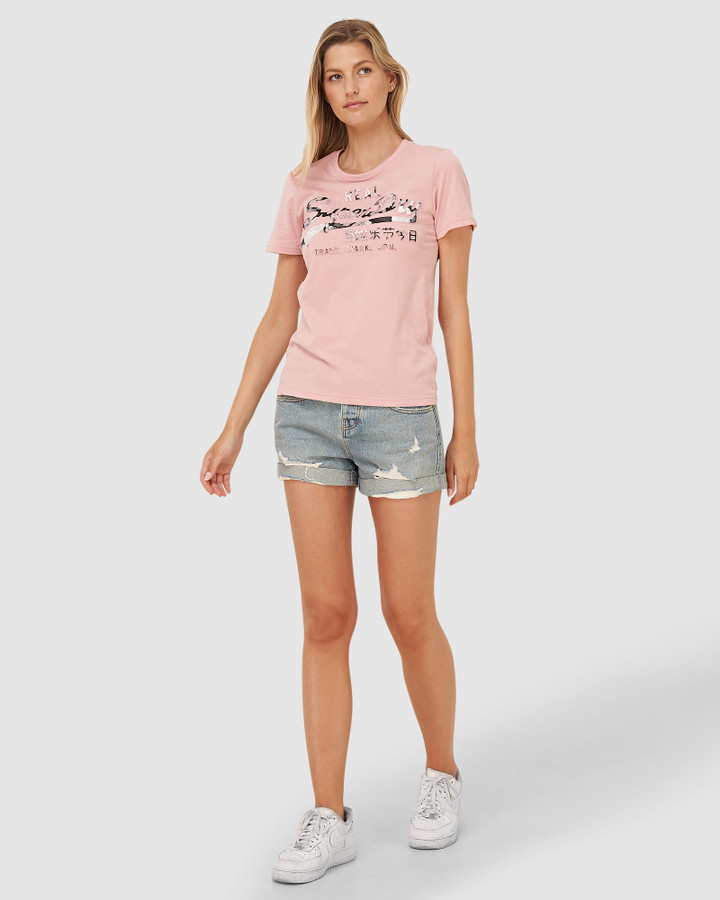 Superdry Vl Photo Rose Entry Tee Soft Pink