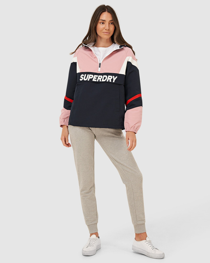 Superdry Colour Block Overhead Soft Pink