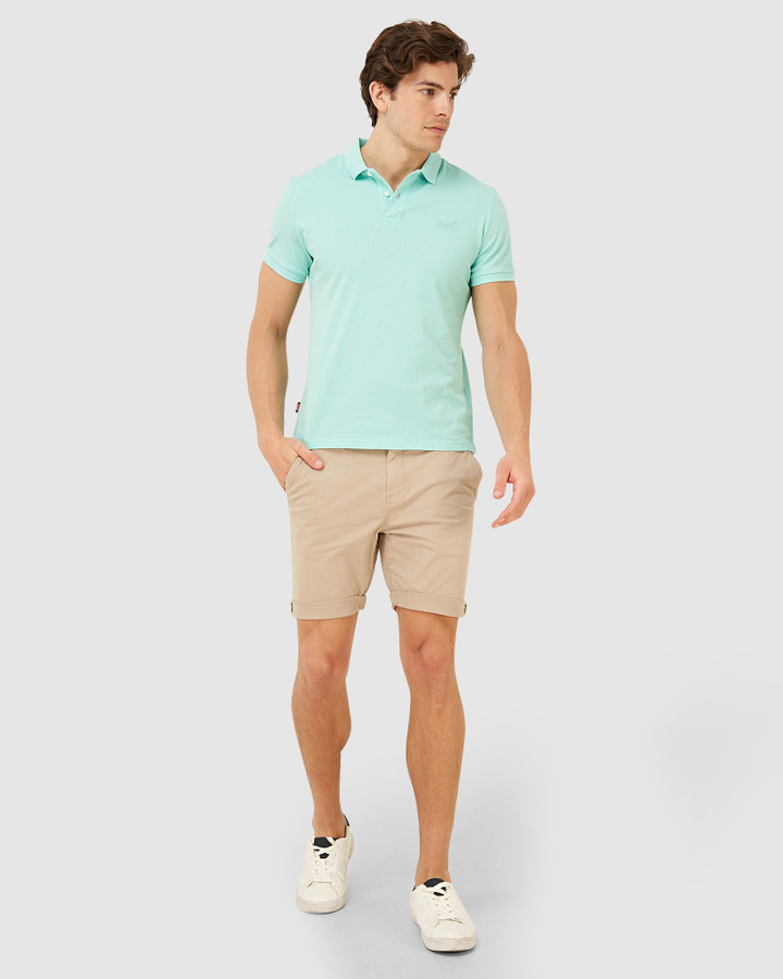Superdry Classic Micro Lite Pique Polo Pool Blue