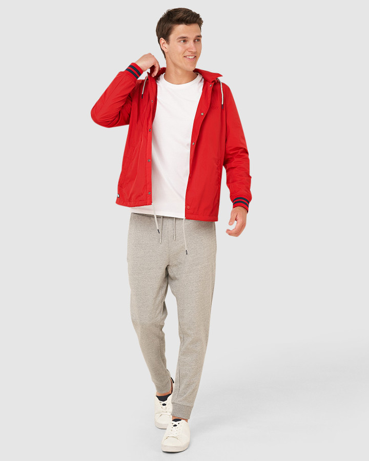 Superdry Baseball Hooded Coach Varsity Red