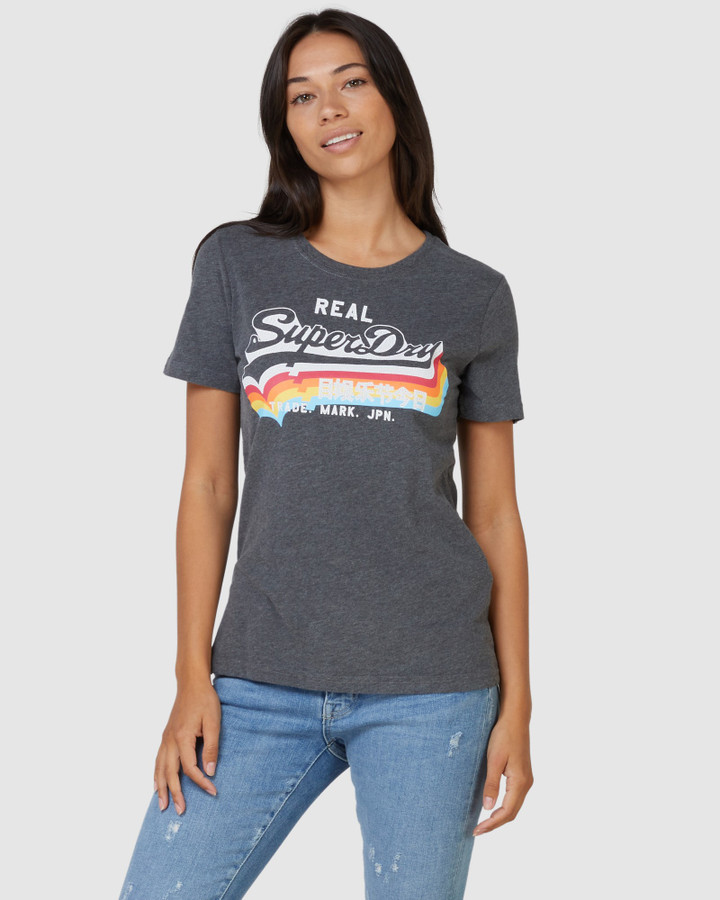 Superdry Vl Ns Tee Charcoal Marle