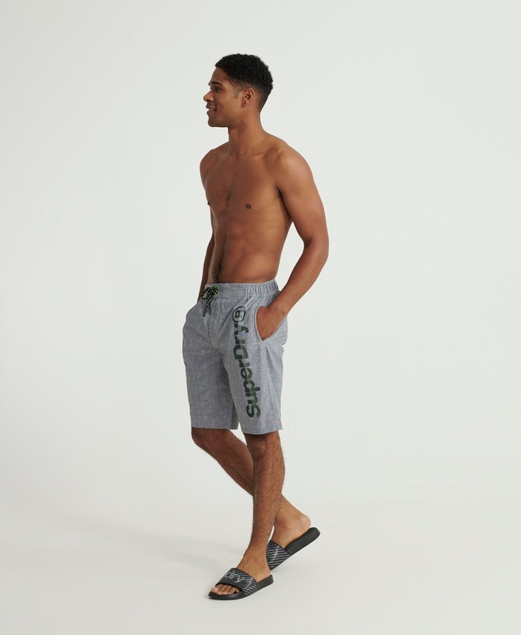 Superdry Superdry Classic Boardshort Silver Grey Grit