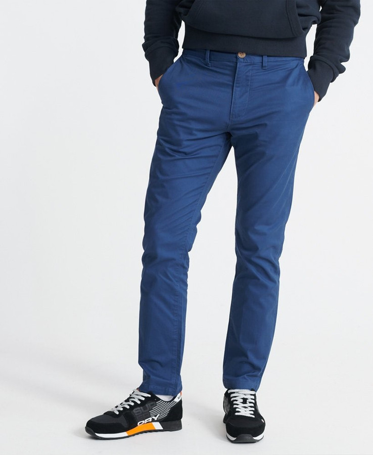 Superdry Edit Chino Mallard Blue 32