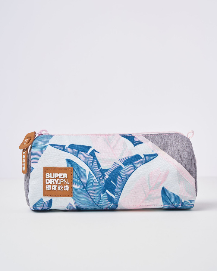Superdry City Pack Printed Pencil Case Pink Palm