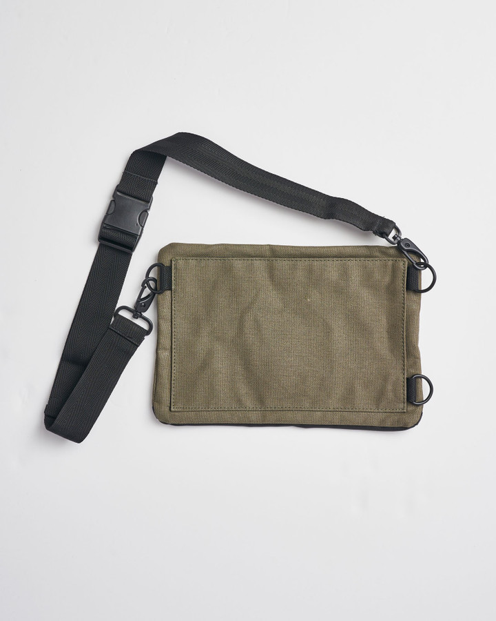 Superdry Waxed Pouch Olive Night