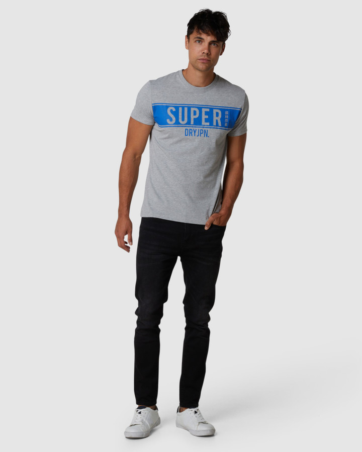Superdry Sdry Panel Tee Grey Marle