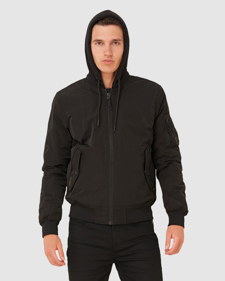 Superdry Military Flight Bomber Black