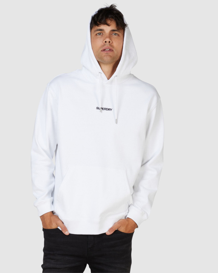 Superdry Micro Logo Box Fit Hood Optic