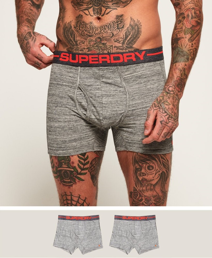 Superdry Sport Boxer Double Pack Flntgry Spc Dy/Flntgry Spc Dy