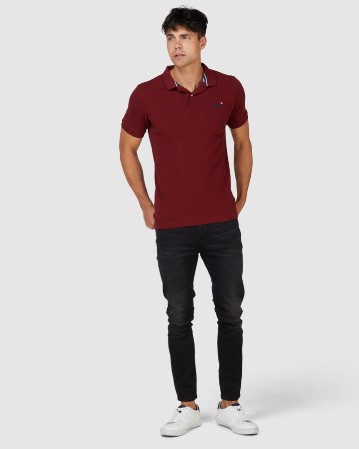 Superdry Classic Pique Polo Rich Red Grit