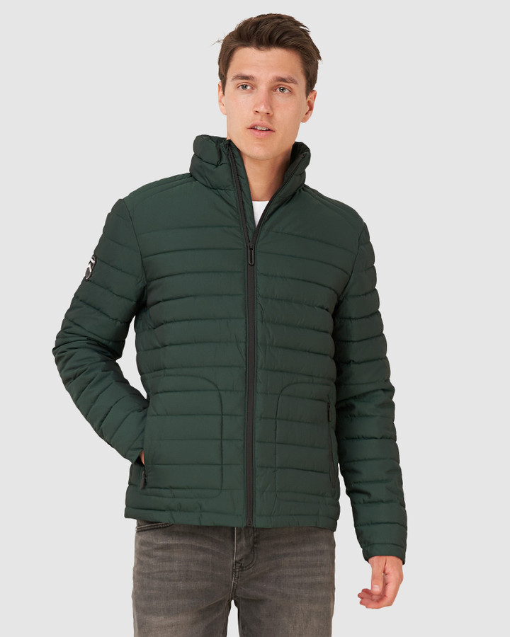 Superdry Double Zip Fuji Jacket Enamel Green