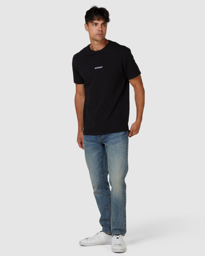 Superdry Micro Logo Box Fit Tee Black