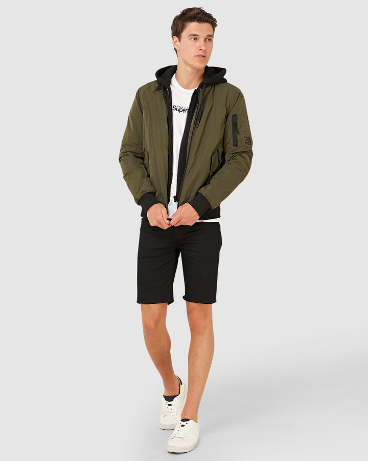 Superdry Military Flight Bomber Dark Khaki