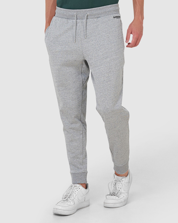 Superdry Micro Logo Loose Taper Jogger Collective Dark Grey Grit