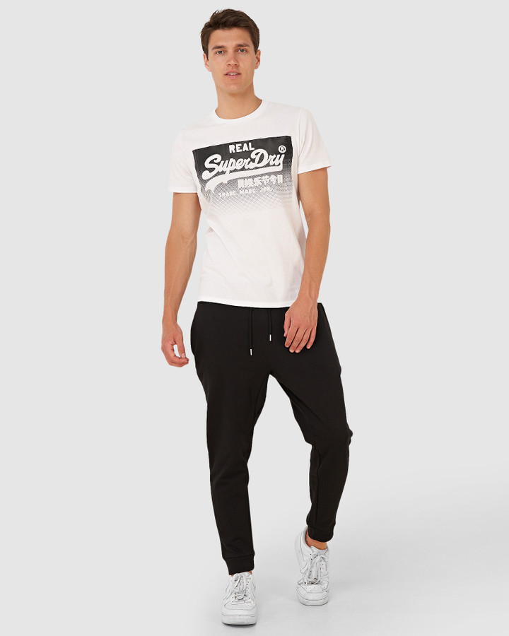 Superdry Micro Logo Loose Taper Jogger Black