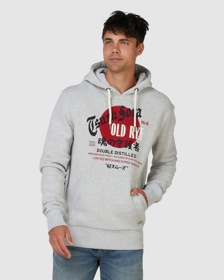 Superdry Rising Sun Hood Grey Chalk Marle