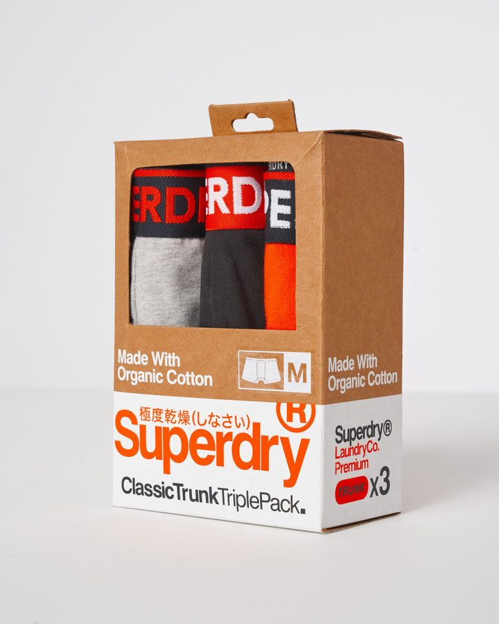 Superdry Classic Trunk Triple Grey Marle/Blk/Havana Orange