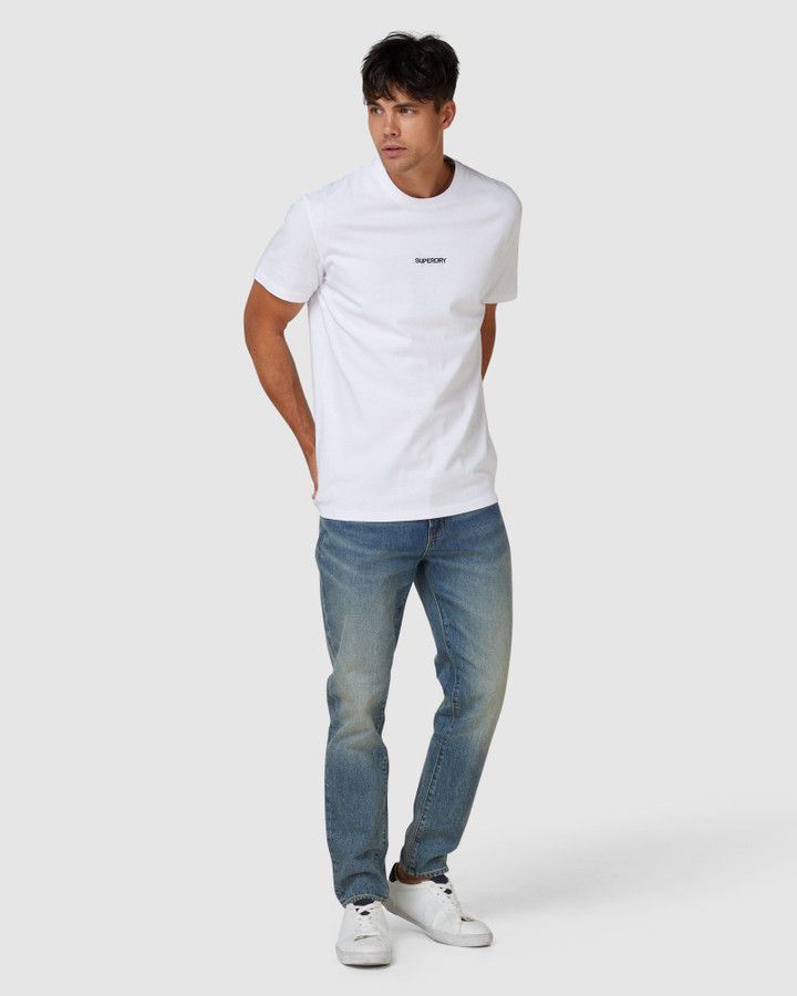 Superdry Micro Logo Box Fit Tee Optic