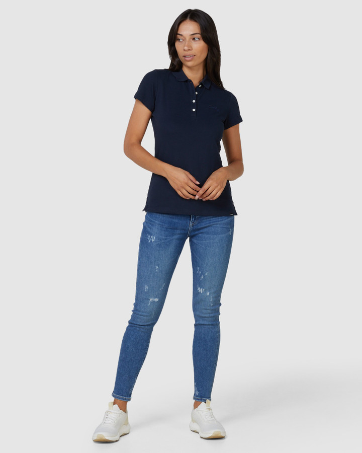 Superdry Scripted Polo Tee Navy