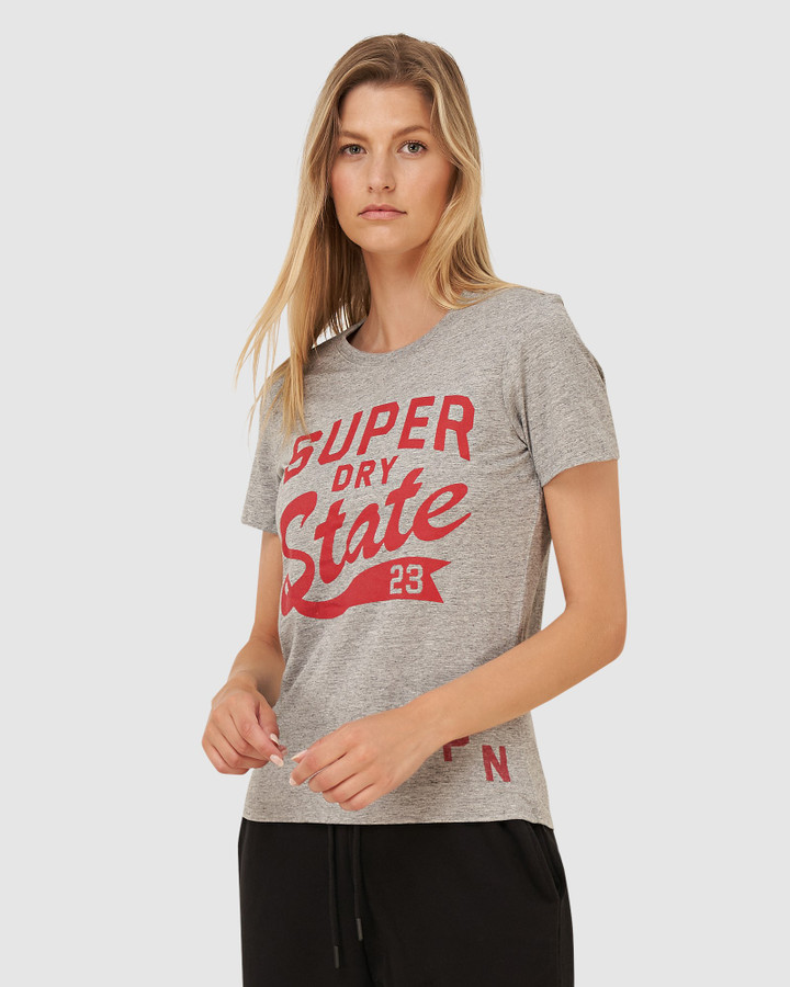 Superdry T&F Classic Tee Soft Grey Marl