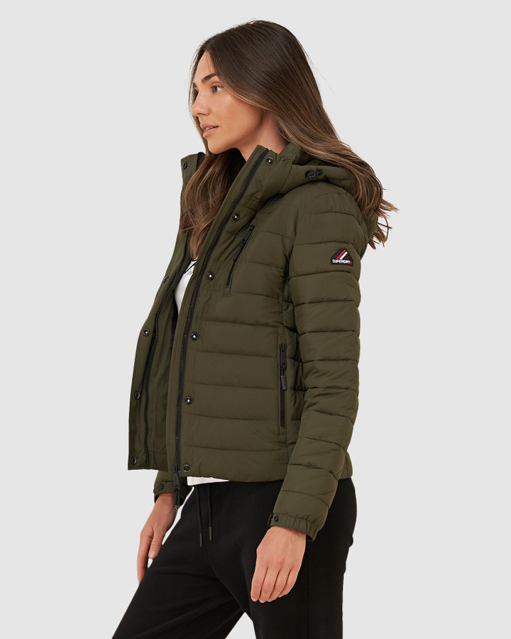 Superdry Classic Fuji Padded Jacket Forest Green