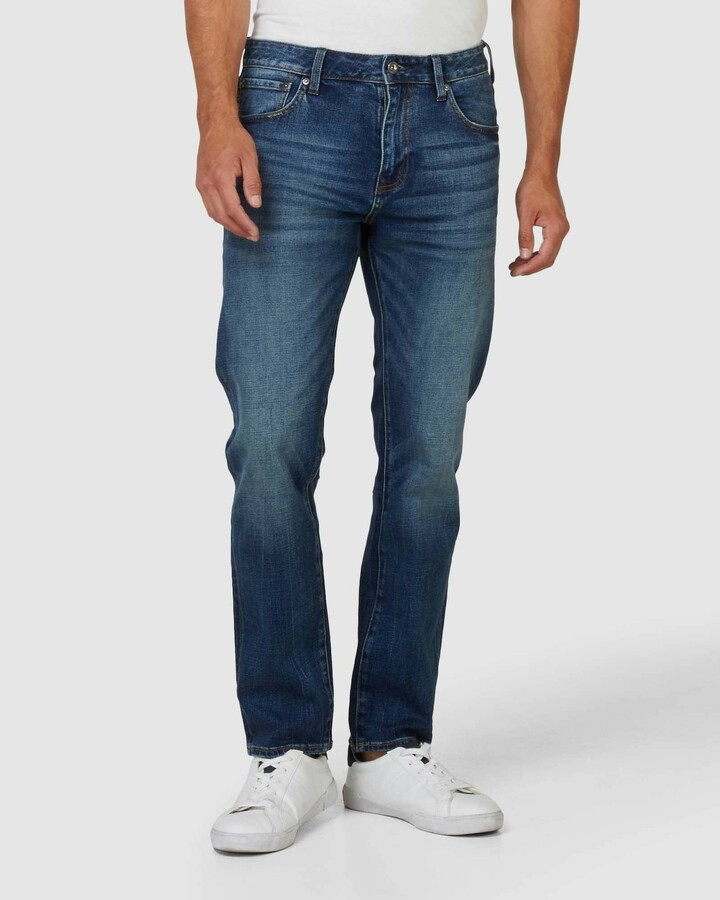 Superdry Tailored Straight Sixway Mid Blue