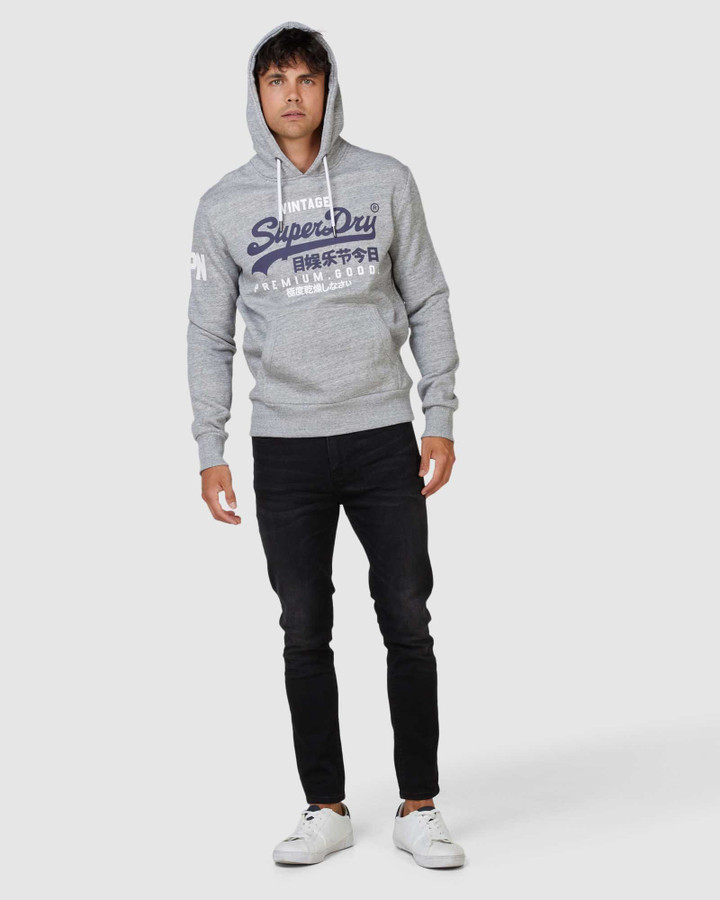 Superdry Vl Ns Hood Grey Marle