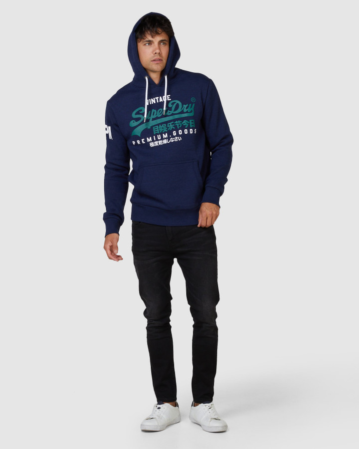 Superdry Vl Ns Hood Midnight Blue Grit