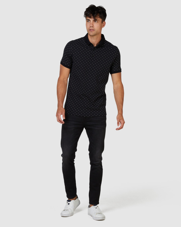 Superdry Nyc City Aop Polo Black