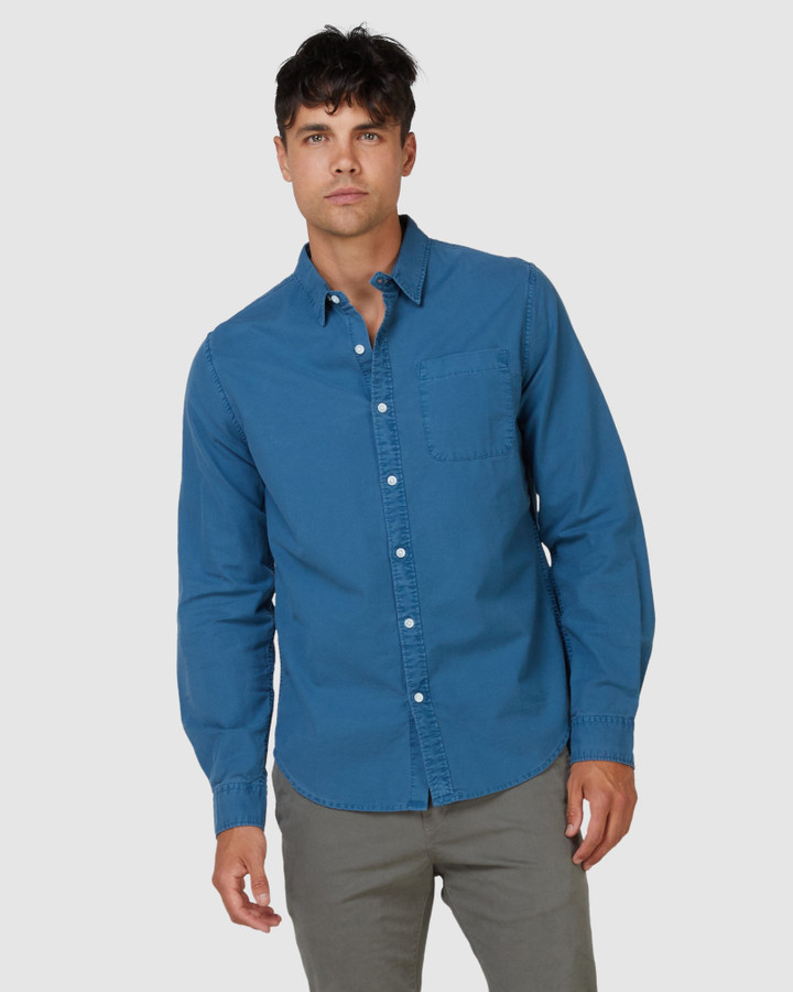 Superdry Lined Dried Oxford Shirt Teal