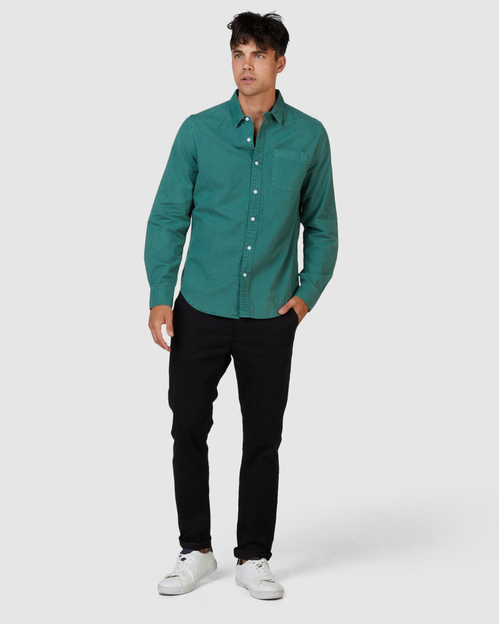 Superdry Lined Dried Oxford Shirt Ivy