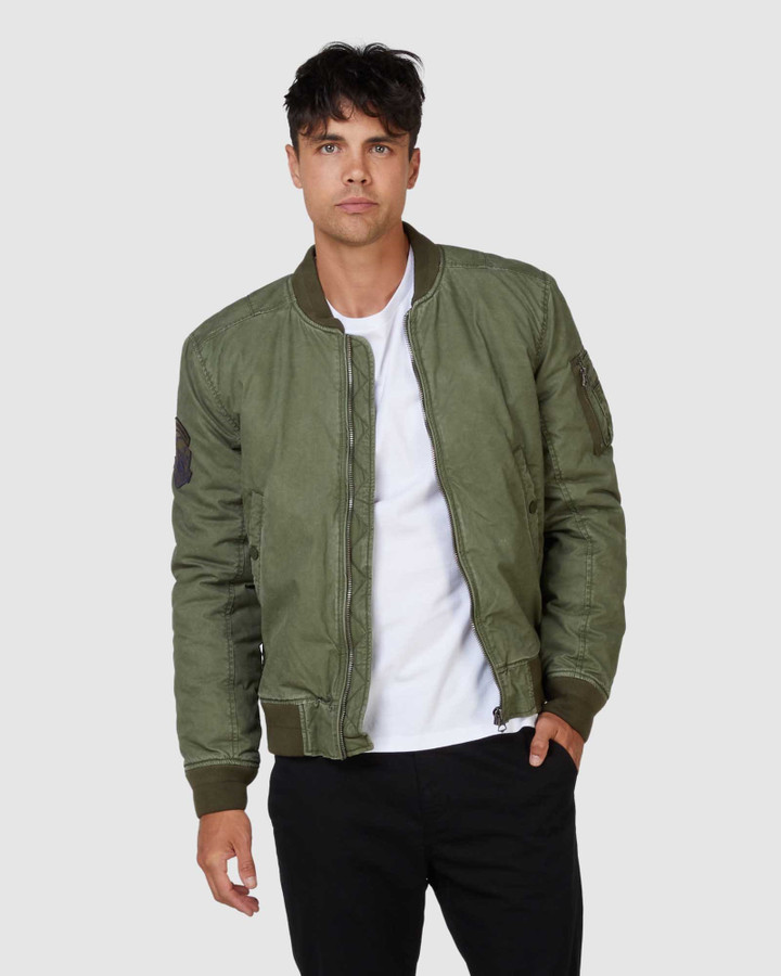 Superdry Field Tank Jacket Army Green