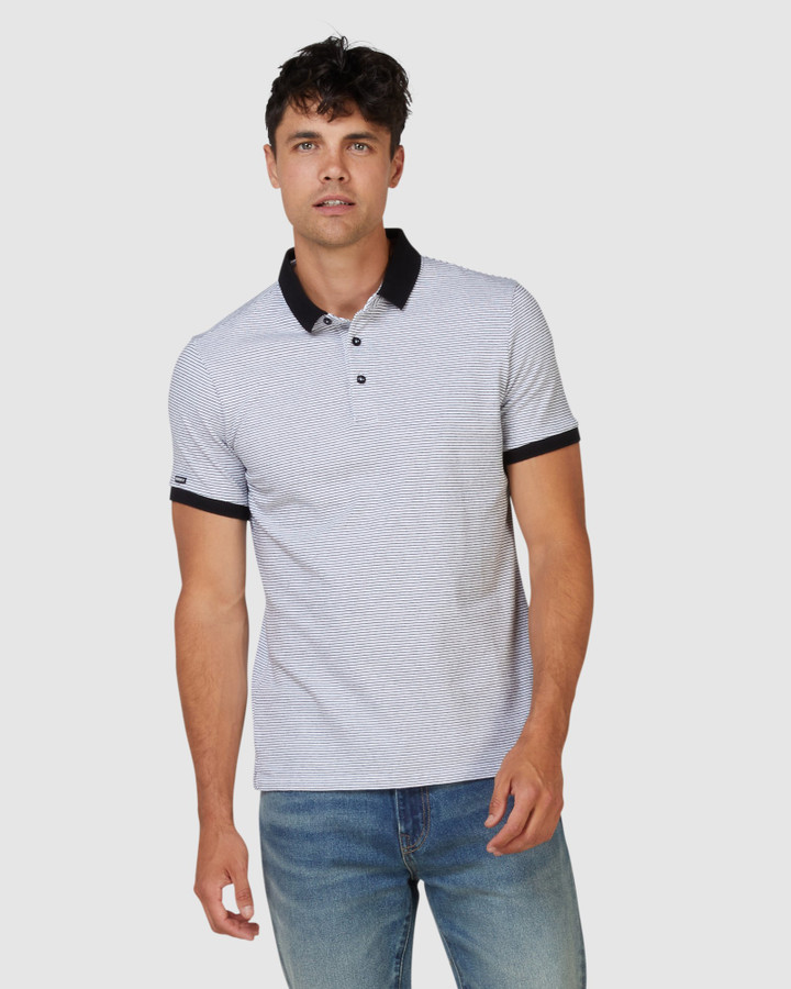 Superdry Nyc City Stripe Polo Optic/Black Stripe