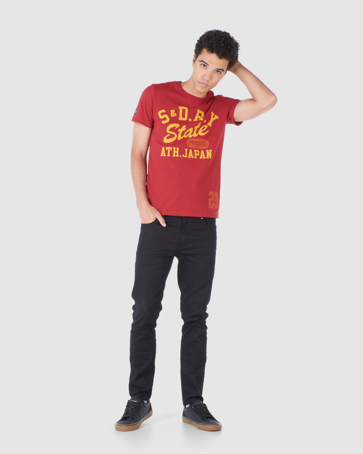 Superdry T&F Classic Tee Chilli Pepper Marle