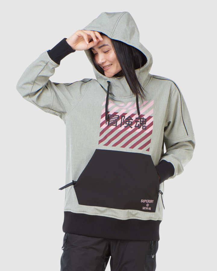 Superdry Freestyle Tech Overhead Grey Marle