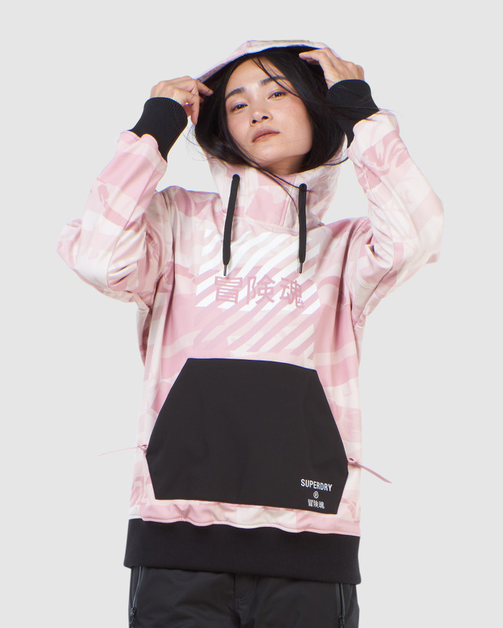 Superdry Freestyle Tech Overhead Soft Pink