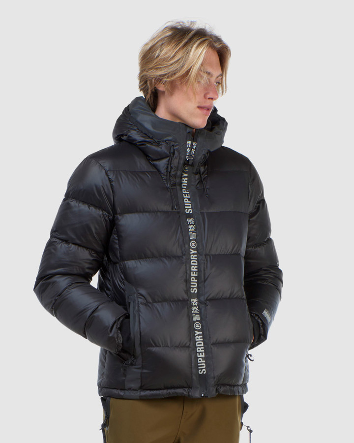 Superdry Mountain Pro Racer Puffer Black