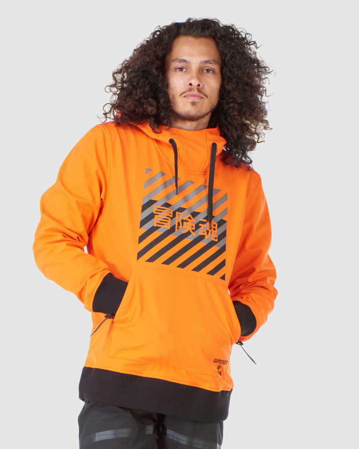 Superdry Snow Tech Hood Havanna Orange
