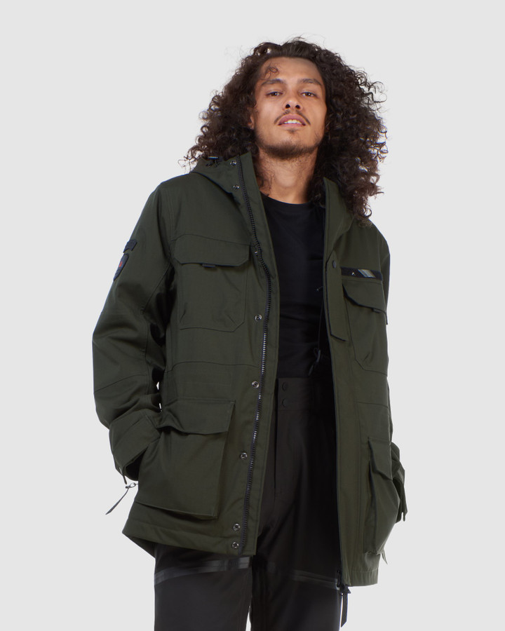 Superdry 4 Pocket Ski Rookie Surplus Goods Olive