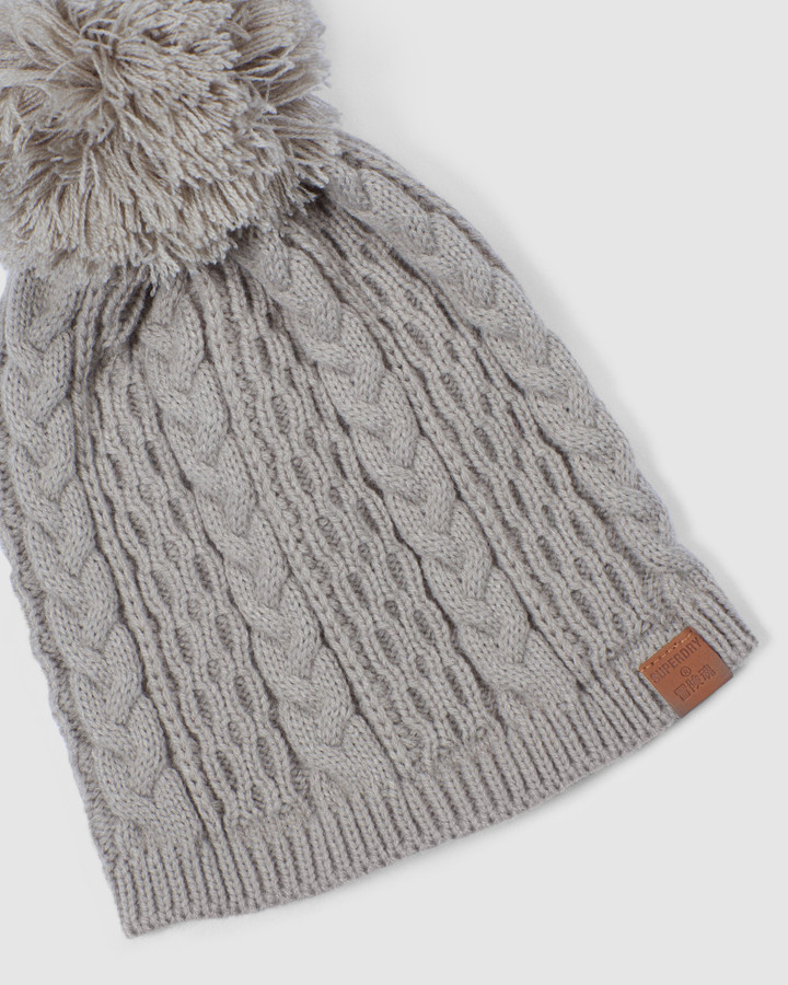 Superdry Snow Beanie Oatmeal
