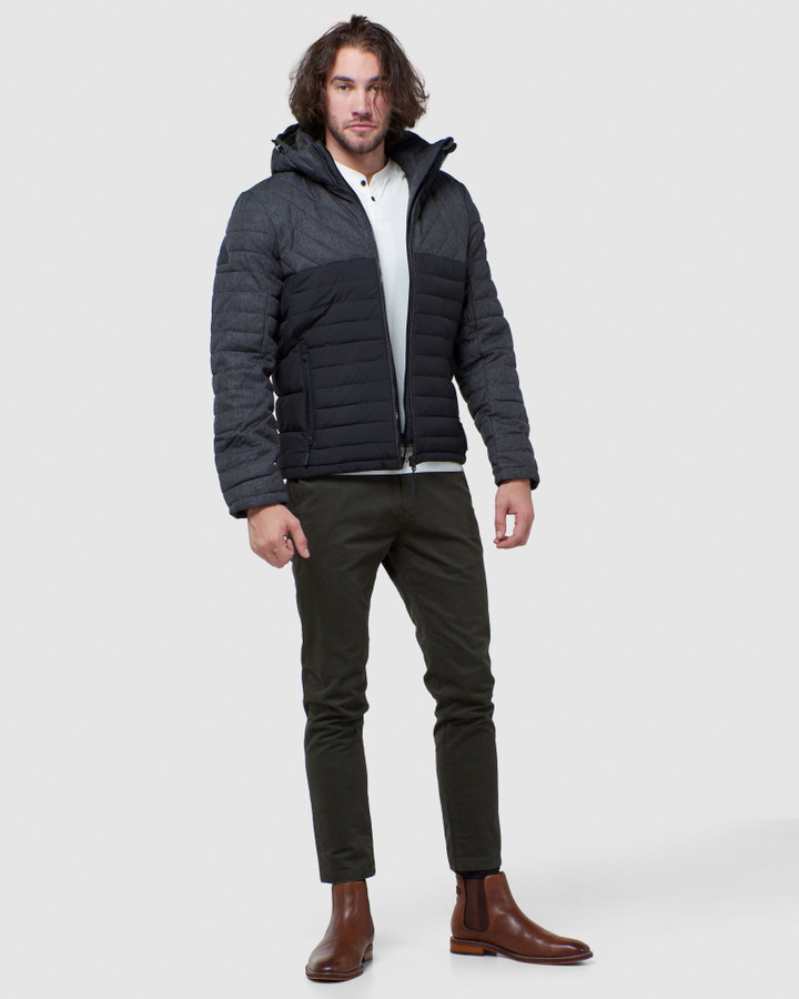 Superdry Tweed Mix Fuji Charcoal Herringbone
