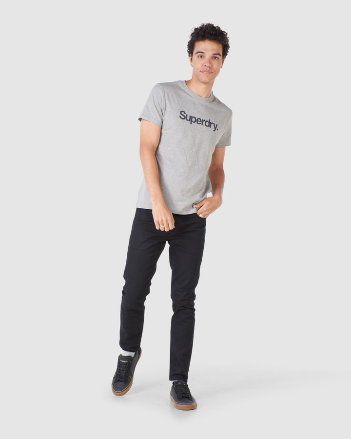 Superdry Cl Canvas Tee Peppered Grey Grit