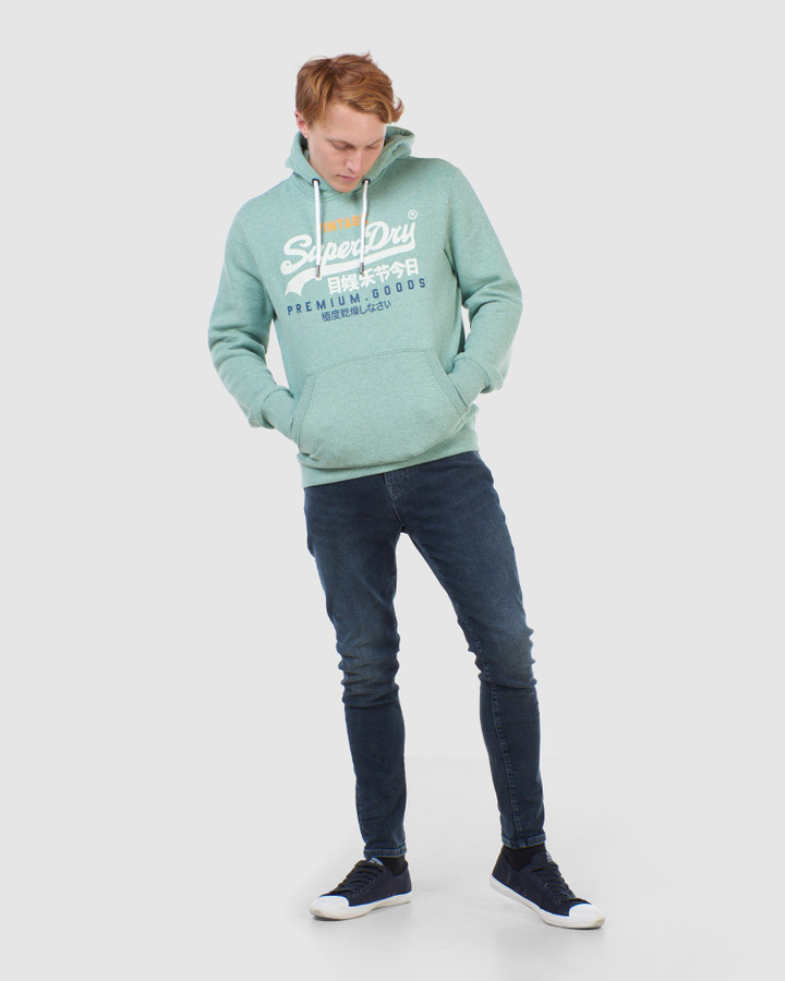 Superdry Vl Tri Hood Smoke Green Marle