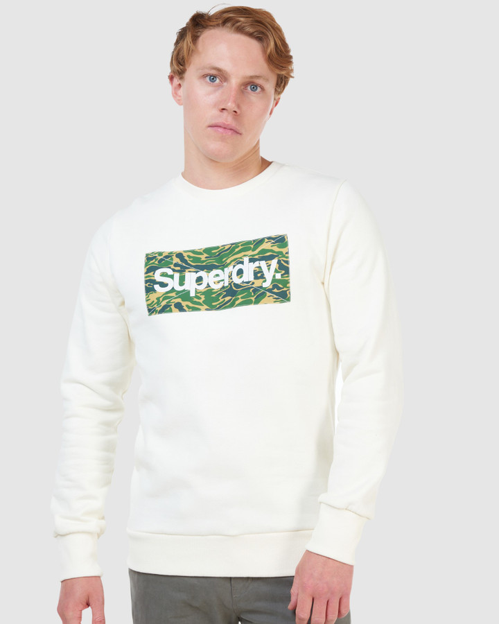 Superdry Cl Canvas Crew Cream
