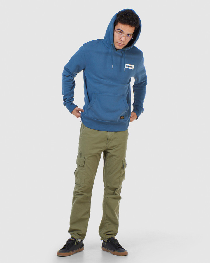 Superdry Cl Canvas Hood Heritage Washed Blue