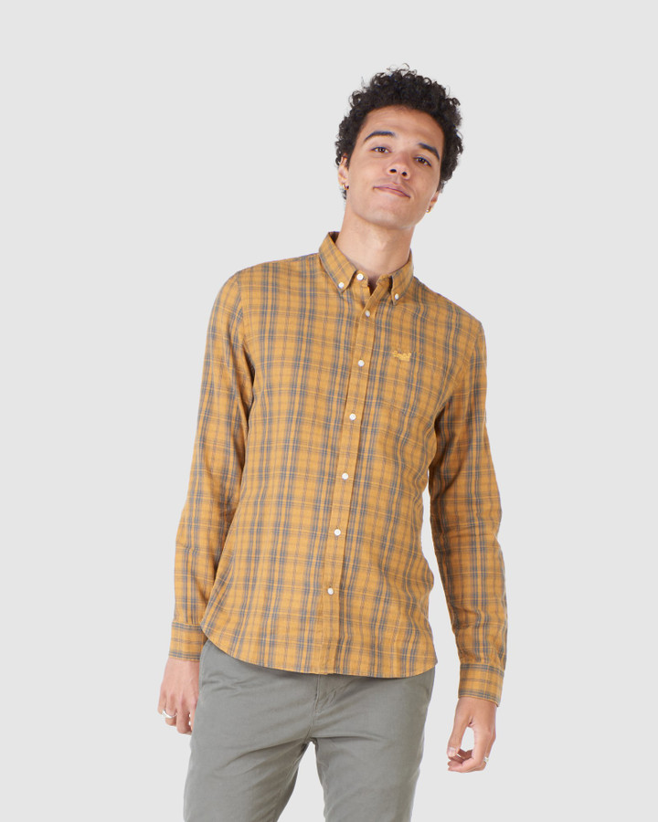 Superdry Classic London B.D. Shirt Ochre Melange Check