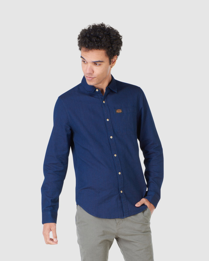 Superdry Workwear Indigo Shirt Indigo Stripe