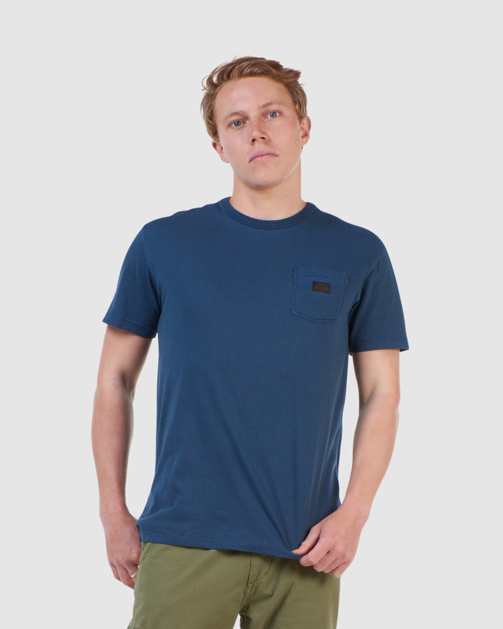 Superdry Gmt Dye Nyc Box Fit Tee Nautical Navy