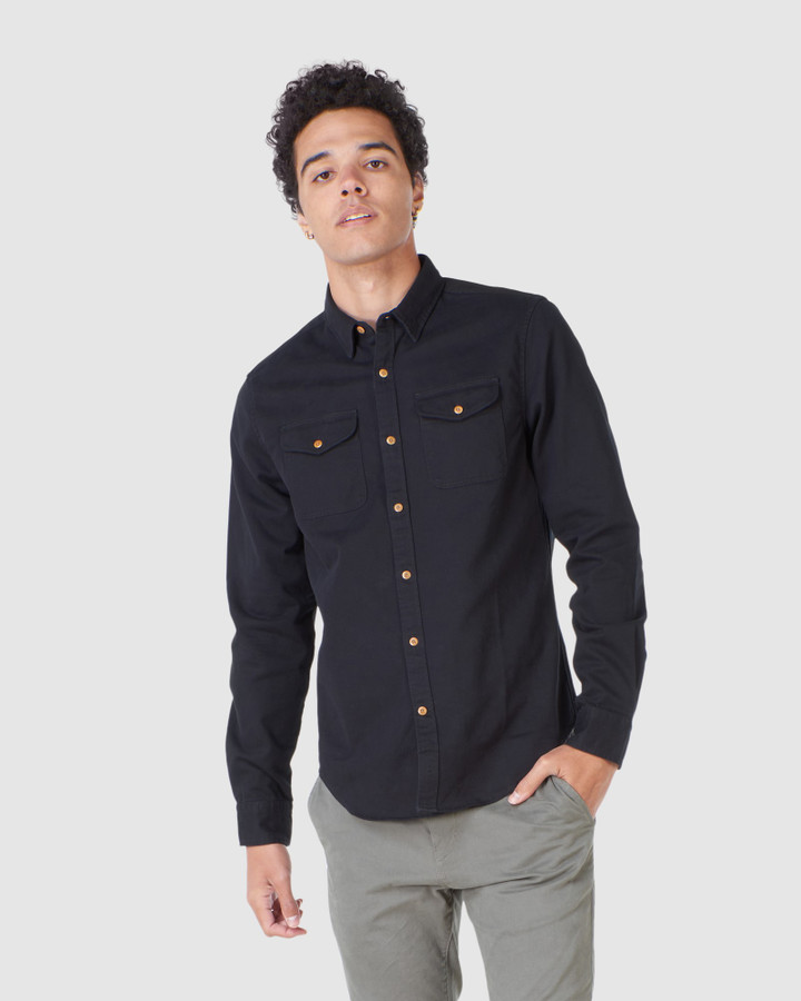 Superdry Classic Commuter Shirt Black Twill